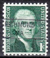 USA Precancel Vorausentwertung Preo, Locals Massachusetts, Richmond 841 - Vereinigte Staaten