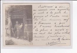 Environs D'AUCAMVILLE ? : Carte Photo D'une Cabane De Chasseur (palombes - Appats) - Très Bon état - Frankrijk