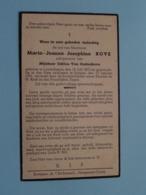 DP Maria-Joanna-Josephina BOVE ( Odilon Van Oudenhove ) Lovendegem 18 Juli 1873 - Strijpen 27 Jan 1941 ( Zie Foto's ) ! - Overlijden