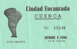 TICKET - ENTRADA / CIUDAD ENCANTADA - CUENCA - AÑO 200? - Tickets - Entradas