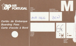 BOARDING PASS - CARTAO EMBARQUE - TAP AIR PORTUGAL - Tiquetes Aéreos