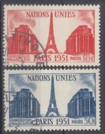 +France 1951. Nations Unies. Yvert 911-12. Cancelled - France