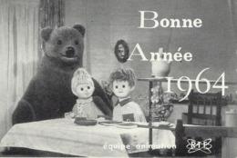 BONNE NUIT LES PETITS-PIMPRENELLE-NICOLAS-GROS OURS-NOUNOURS-ORTF-EQUIPE ANIMATION-TELEVISION-BONNE ANNEE-1964 - Séries TV