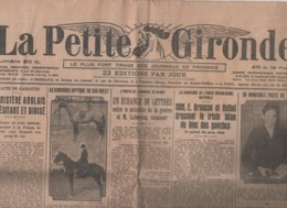 LA PETITE GIRONDE 16 02 1925 - NIAMEY - URN - T.S.F.- MAJORATION 10% IMPOTS - ARISTIDE BRUANT - AGEN - VILLENEUVE S/ LOT - Newspapers