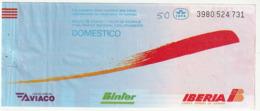 PASSENGER TICKET - BILLETE DE PASAJE / AVICO BINTER IBERIA - DOMESTICO 1992 - Tiquetes Aéreos