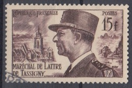 +France 1952. De Tassigny. Yvert 920. Cancelled - France