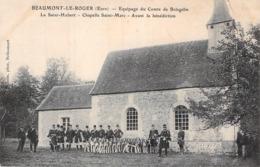 C P A 27] Eure > Beaumont-le-Roger Chasse à Courre Léquipage Du Comte De Boisgelin Avant La Bénédiction - Beaumont-le-Roger
