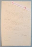 L.A.S 1843 Nicolas-Toussaint CHARLET Peintre Graveur - Brainville - Letellier Collège Saint Brieuc - Lettre Autographe - Autographes