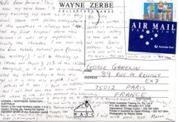 TIMBRE ET CARTE AUSTRALIE - 1990-99 Elizabeth II