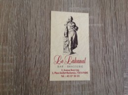 Carte De Visite De Bar Brasserie   Le Lakanal   Paris - Cartoncini Da Visita
