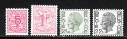 Belgique 1974 Yvert 1715 / 1717 - 1720 ** TB - Belgique