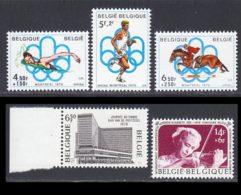Belgique 1976 Yvert 1795 / 1799 ** TB - Belgique