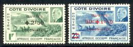 Cote D'Ivoire 1944 Yvert 175 / 176 ** TB Bord De Feuille - Costa D'Avorio (1892-1944)