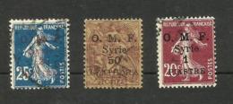Syrie N°37, 46, 60 Cote 3.30 Euros - Oblitérés