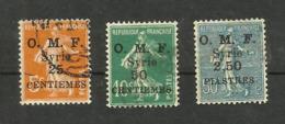 Syrie N°85 à 87 Cote 4.70 Euros - Oblitérés