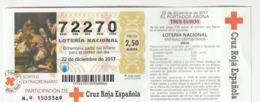CRUZ ROJA ESPAÑOLA - 2017 - Billets De Loterie
