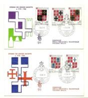 1979 - Sovrano Militare Ordine Di Malta 170/74 Stemmi    FDC     14/82 - Buste