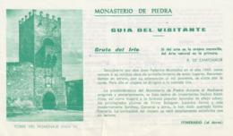 MONASTERIO DE PIEDRA - GUIDA DEL VISITANTE 199? - Folletos Turísticos