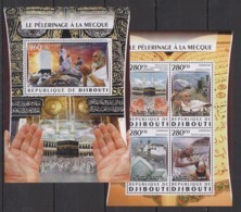 DJ040 2016 DJIBOUTI ART RELIGION ISLAM MECCA PILGRIMAGE KB+BL MNH - Islam
