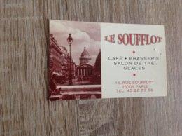 Carte De Visite De Café  Brasserie Salon De The   Le Soufflot   Paris - Cartoncini Da Visita