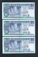 Banknote - Singapore $1 Ship Series 3 Runs Number B/16-333665-653 (#134) XF - Singapore