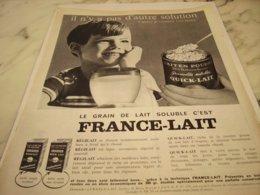 ANCIENNE  PUBLICITE UN GRAIN DE LAIT  REGILAIT 1961 - Posters