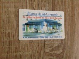 Carte De Visite De Bistrot  Restaurant    Bistrot De Saint Germain   Paris - Cartes De Visite