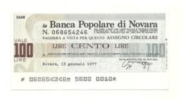 1977 - Italia - Banca Popolare Di Novara - Ass. Dettaglianti Tessili Prov. Di Milano - [10] Assegni E Miniassegni