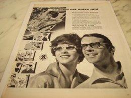 ANCIENNE PUBLICITE LE SOLEIL EST VOTRE AMI  LUNETTE  1961 - Vintage Clothes & Linen