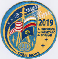 Human Space Flights Soyuz MS-13 Cliff Russia Energia Embroidered Patch - Patches