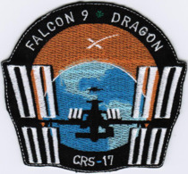 ISS Expedition 59 Dragon Spx-17 Spacex International Space Station Embroidered Patch - Ecussons Tissu