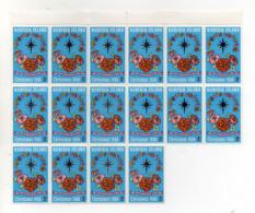 ISOLA NORFOLK - 1968 - Natale - Blocco Da 14 Valori Da 5 C Con Bordo Di Foglio -  Nuovi ** - (FDC17404) - Isola Norfolk