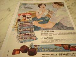 ANCIENNE PUBLICITE BARRE CHOCOREVE 1961 - Posters