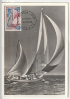 CARTE MAXIMUM - POLYNESIE - N°37 (1966) Bateaux - Cartes-maximum