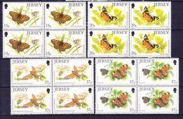 JERSEY 1991 YT N° 543 à 546 ** BLOC DE 4 - Jersey