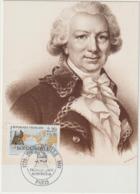 Carte-Maximum FRANCE N° Yvert 2521 (BOUGAINVILLE) Obl Sp Ill 1er Jour (Ed Emp-Combier 5265) Timbre Feuille - Cartas Máxima