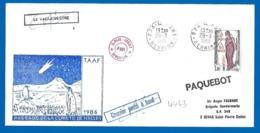 974 Le Port Réunion 28 03 1986 (4443) Passage De La Comète De Halley - Marcofilie (Brieven)