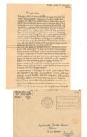 FRANCE 1940 ENVELOPPE F.M.TOULON POUR MARSEILLE - Marcophilie (Lettres)