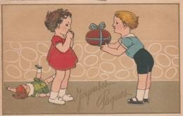 *** ILLUSTRATEUR  *** JOYEUSES PAQUES  - Enfants Cadeaux Poupée TTB Neuve - Pâques