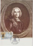 Carte-Maximum FRANCE N° Yvert 2520 (LA BOURDONNAIS) Obl Sp Ill 1er Jour (Ed Emp-Combier 5266) Timbre Feuille - Cartas Máxima