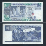 Banknote - Singapore $1 Ship Series Currency Paper Money  (#132B) - Singapore