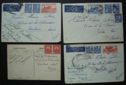 Tunisie Bizerte 1939 Et 1940 Lot De 3 Lettres Et Une Carte Pour Roubaix (Nord) - Tunisia (1888-1955)