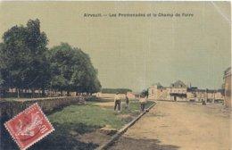 Cpa  79 Airvault Promenades & Champ De Foire - Airvault