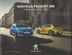 Dépliant Publicitaire Avec Carte Holographique Pour La Nouvelle Peugeot 208 - Advertising