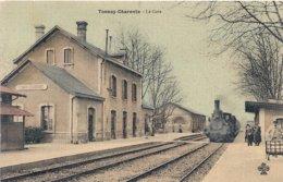 Cpa 17 Tonnay-Charente  La Gare Avec Train - Other Municipalities