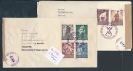 Österreich  2 Zensur Belege .... (zu1798  ) Siehe Scan - 1945-60 Briefe U. Dokumente