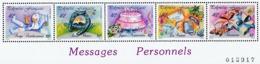 POLYNESIE 1989 - Yv. 338 à 342 ** TB  Cote= 10,50 EUR - Messages Personnels  ..Réf.POL24259 - Polynésie Française