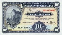 GIBRALTAR 10 SHILLINGS 1934 (2018) P-N/L UNC COMM. OFFICIAL COPY LEGAL TENDER - Gibraltar