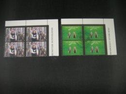 """BELG.1998 2780 & 2781 MNH With Gomme ,4erblocs 1°jour/dag: """" Belgische Films / Film Belge """" - FDC"""