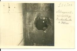 59 - ILLIES / CARTE PHOTO ALLEMANDE - TROU OBUS A LA SUCRERIE - Autres Communes